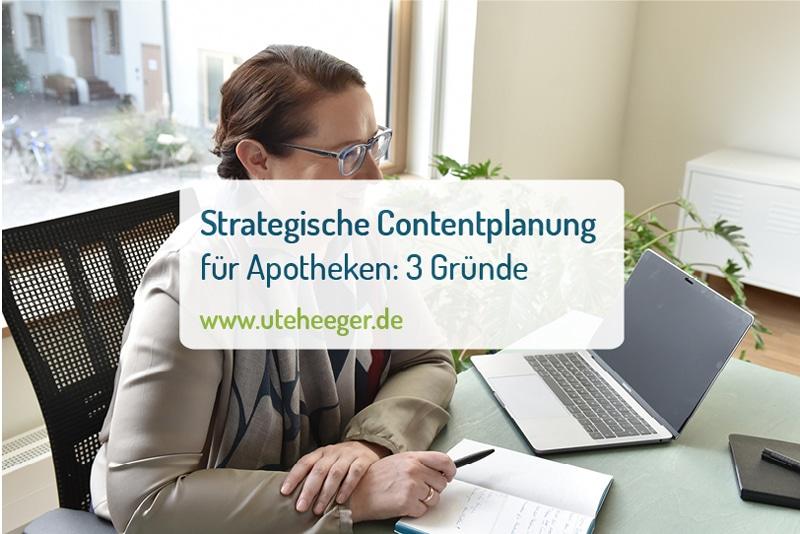 Strategische Contentplanung mit Dr. Ute Heeger