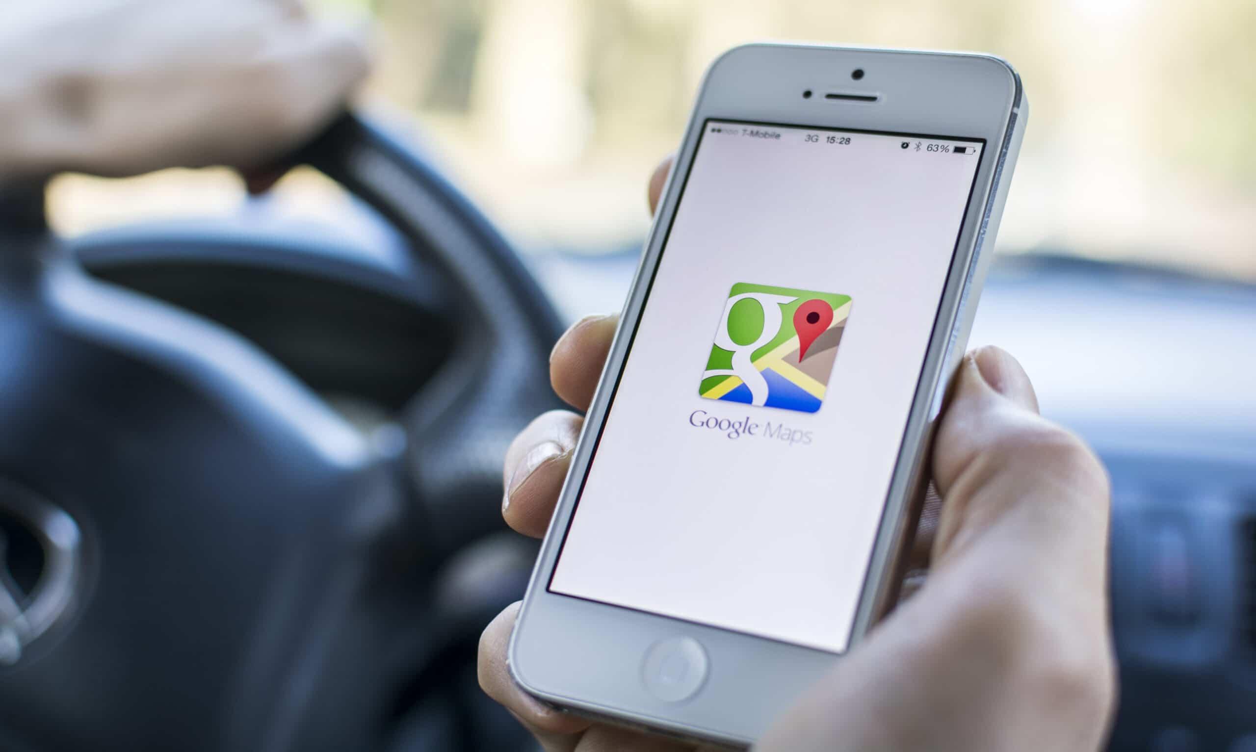 Apotheke in Google Maps unterwegs suchen